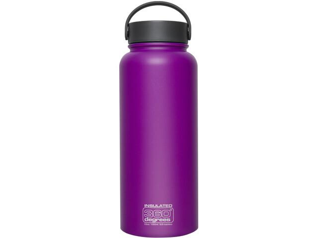 360° degrees Wide Mouth Insul Drink Bottle 1l Purple